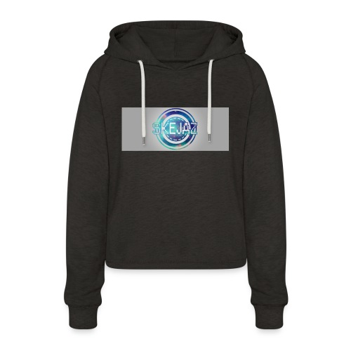 LOGO WITH BACKGROUND - Women's Cropped Hoodie