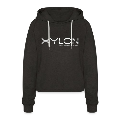 Xylon Handcrafted Guitars (name only logo white) - Women's Cropped Hoodie