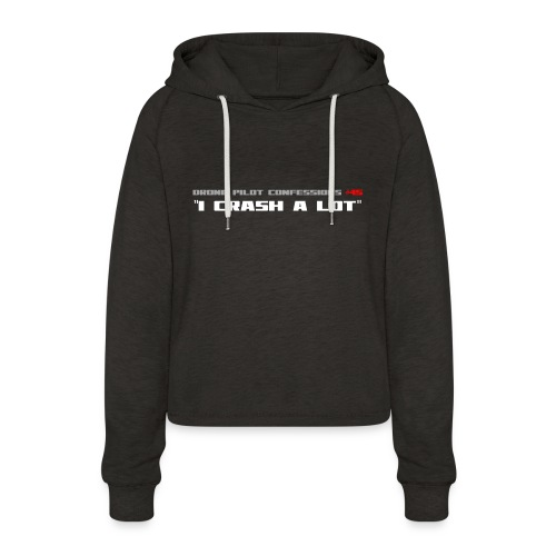 I CRASH A LOT - Women's Cropped Hoodie