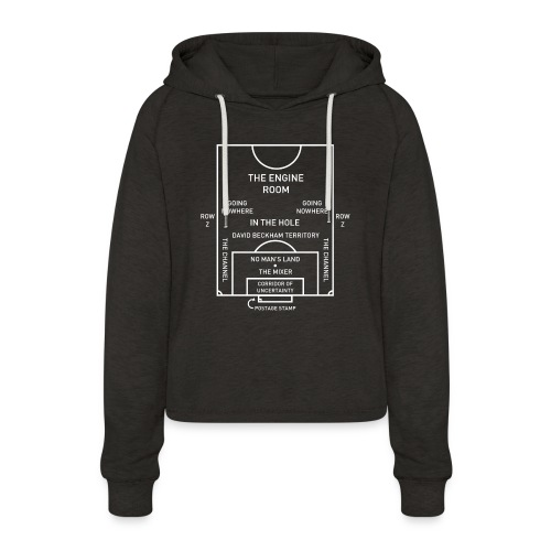 Football Pitch.png - Women's Cropped Hoodie