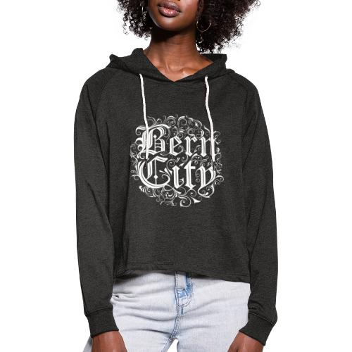 Berncity Typo 01 white edition - Frauen Cropped Hoodie