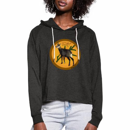 The chamois - Women's Cropped Hoodie