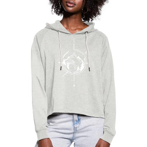 Cabin in the mountains - Vrouwen Cropped Hoodie