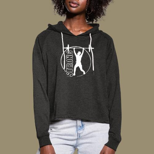 shirtsbydep strong - Vrouwen Cropped Hoodie