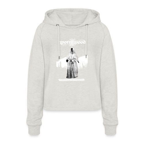 Women's Witch Print - Women's Cropped Hoodie