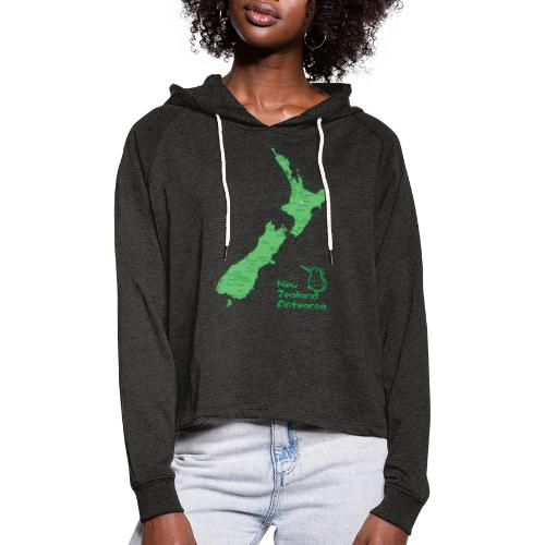 New Zealand's Map - Women's Cropped Hoodie
