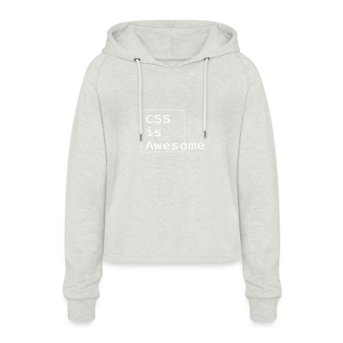cssawesome - white - Vrouwen Cropped Hoodie