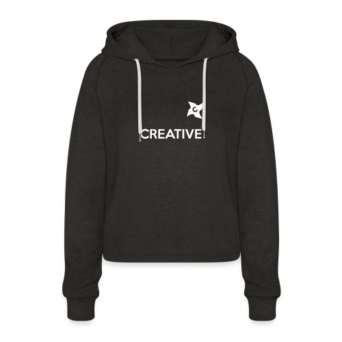 Creative simple black and white shirt - Cropped hoodie til damer