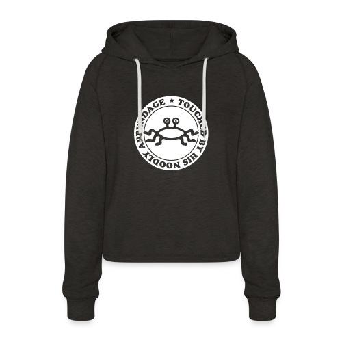 Touched by His Noodly Appendage - Women's Cropped Hoodie