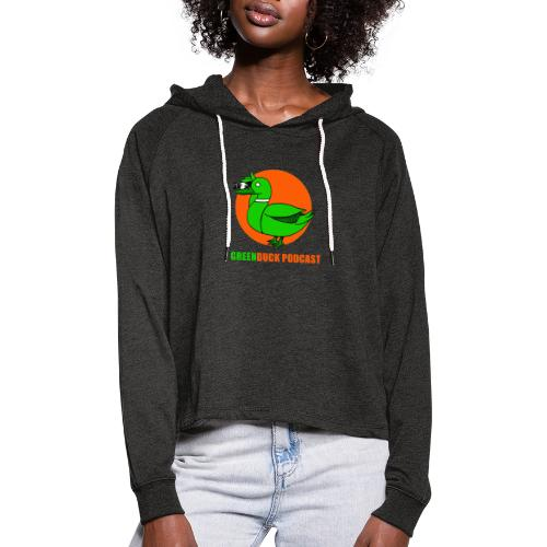 Greenduck Podcast Logo - Cropped hoodie til damer