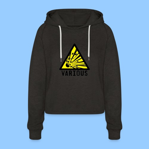 VariousExplosions Triangle (2 colour) - Women's Cropped Hoodie