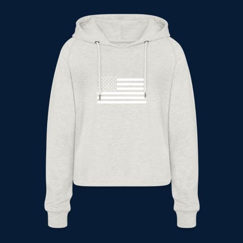 Stars and Stripes White - Frauen Cropped Hoodie