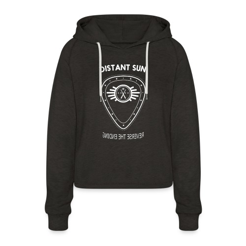 Distant Sun - Mens Standard T Shirt Black - Women's Cropped Hoodie