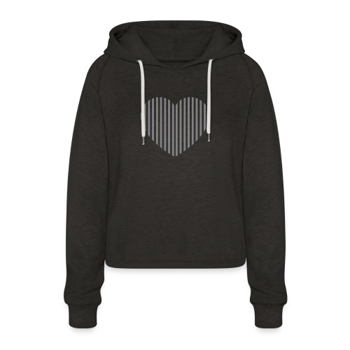 heart_striped.png - Women's Cropped Hoodie
