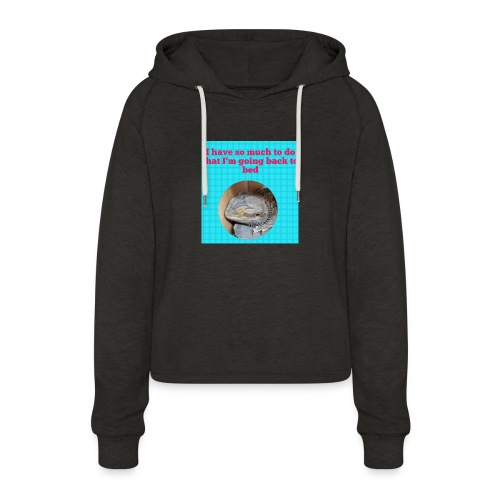 The sleeping dragon - Women's Cropped Hoodie