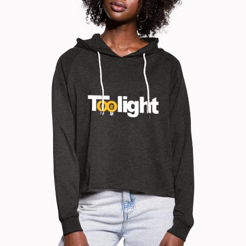 toolight on - Felpa con cappuccio da donna: taglio cropped