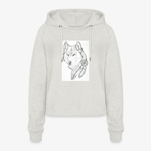 wolf - Vrouwen Cropped Hoodie
