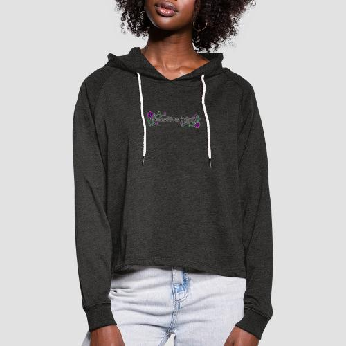 Sensitive Bitch (white outline) - Women's Cropped Hoodie