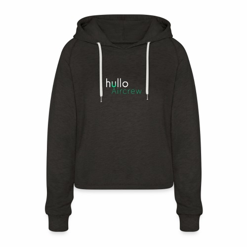 hullo Aircrew Dark - Women's Cropped Hoodie