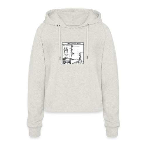 W.O.T War tactic, tank shot - Women's Cropped Hoodie