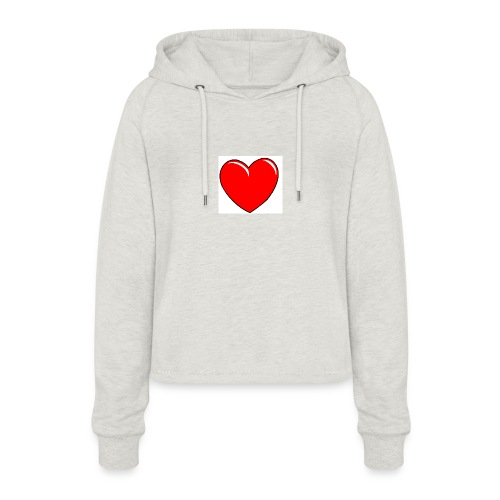 Love shirts - Vrouwen Cropped Hoodie