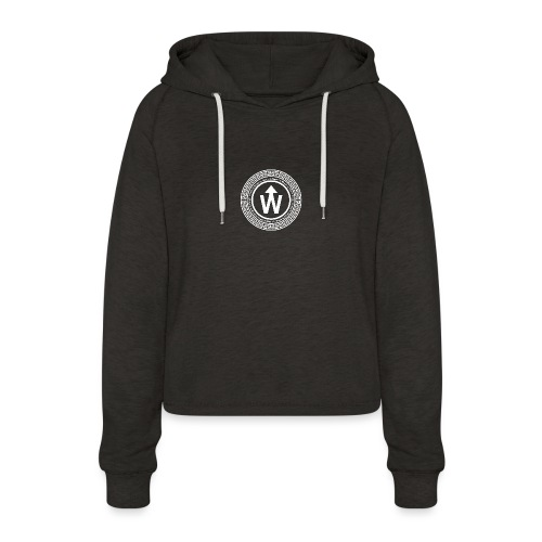 wit logo transparante achtergrond - Vrouwen Cropped Hoodie
