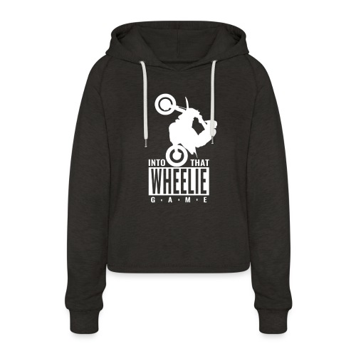 Into that Wheelie Game - Women's Cropped Hoodie