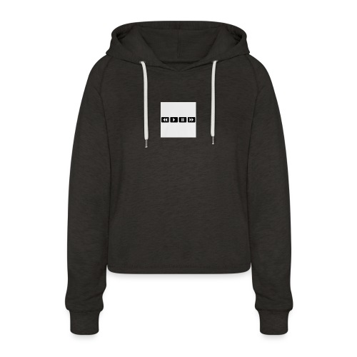 black-rewind-play-pause-forward-t-shirts_design - Vrouwen Cropped Hoodie