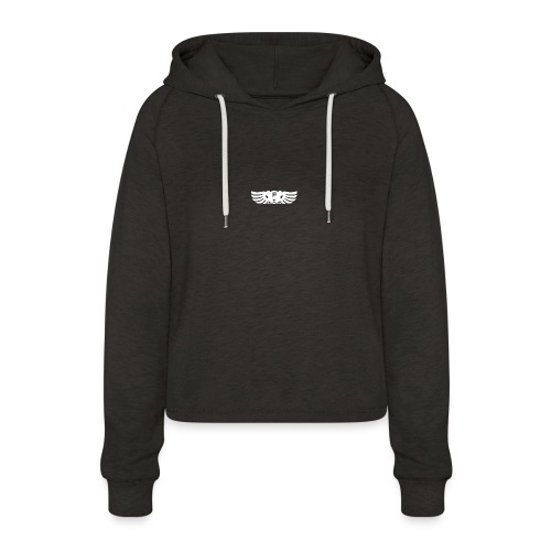 LOGO wit goed png - Vrouwen Cropped Hoodie