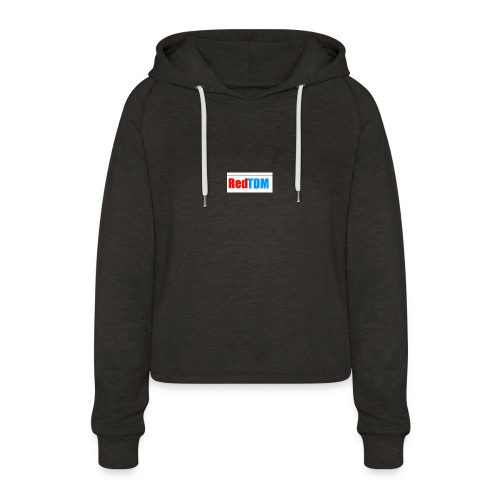 RedRed TDMBlue - Women's Cropped Hoodie