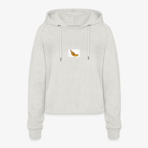 Bananana splidt - Cropped hoodie til damer