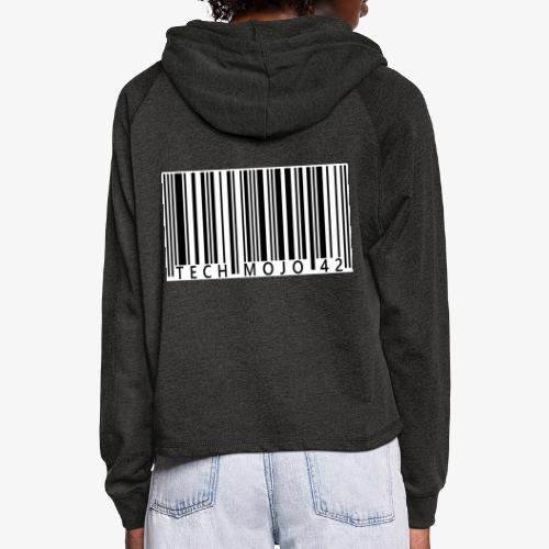 TM graphic Barcode Answer to the universe - Women's Cropped Hoodie