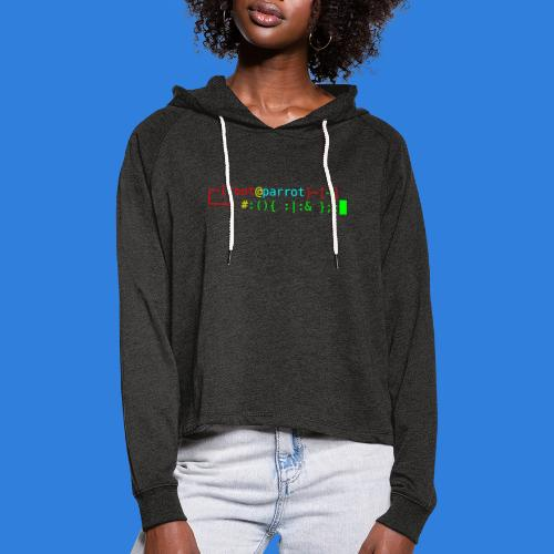 Parrot Logo + Prompt - Women's Cropped Hoodie
