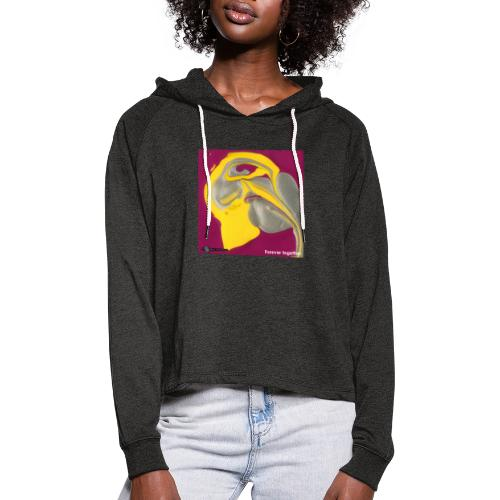 TIAN GREEN Welt Mosaik - CH071 Forever together - Frauen Cropped Hoodie