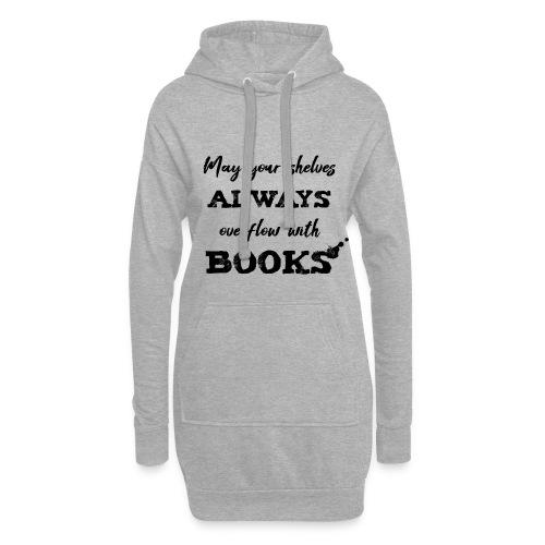 0040 Always full bookshelves   Bücherstapel - Hoodie Dress