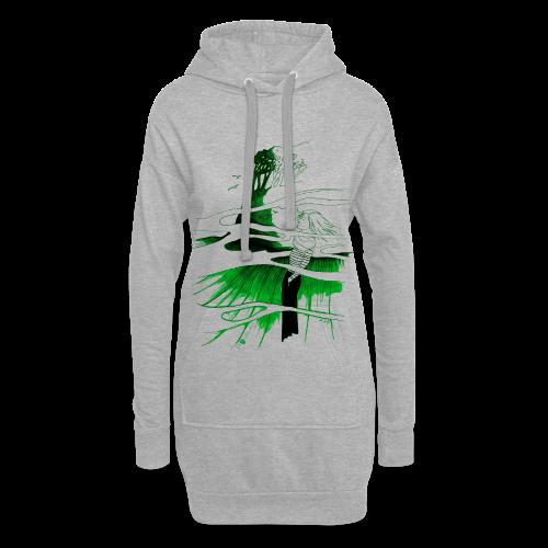 Ein Ort (grün) - Hoodie-Kleid