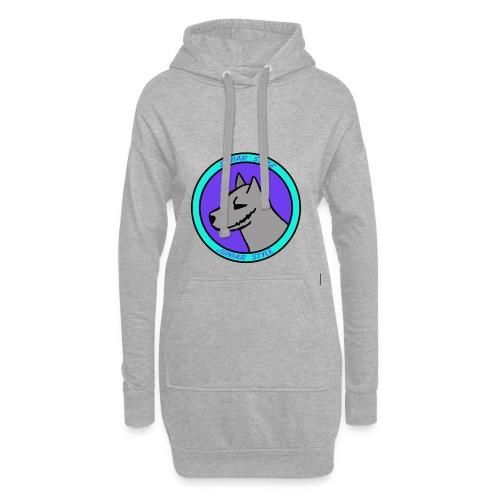 wolf przerobka team Blues7 - Długa bluza z kapturem
