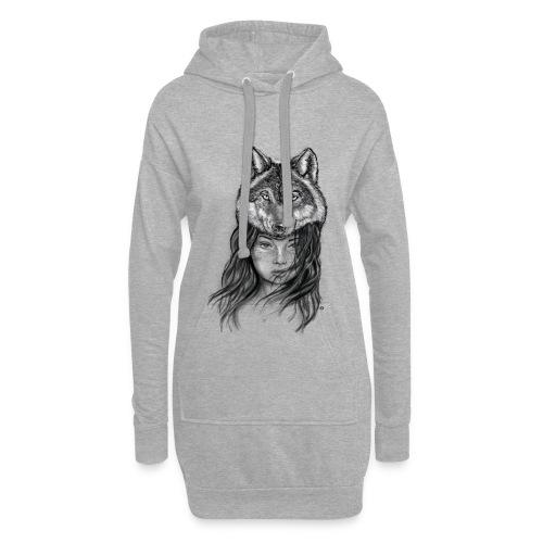 Wolfkopf - Hoodie-Kleid