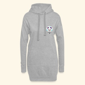Panda coloré - Sweat-shirt à capuche long Femme