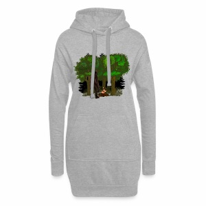 Bigfoot Campfire Forest - Hoodie Dress