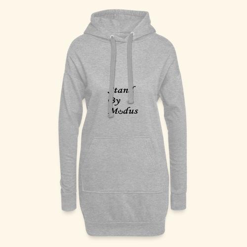 Schrift schwarz - Hoodie-Kleid