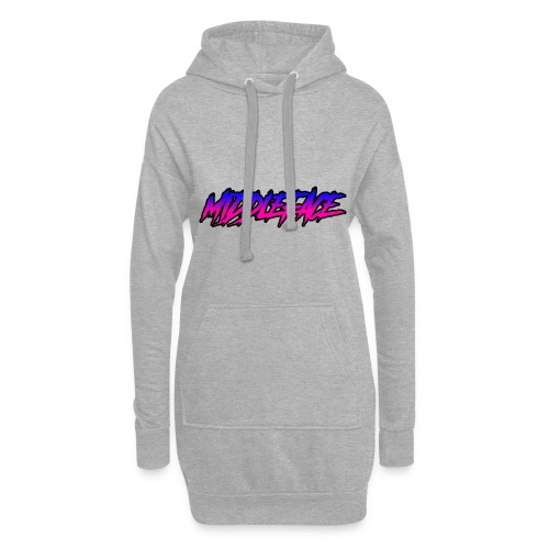 Middleface Logo - Blue and Pink - Hoodie Dress