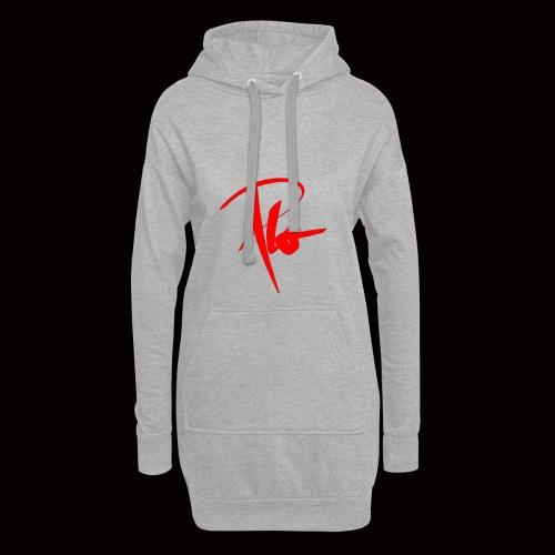Plo Rotes Logo - Hoodie-Kleid