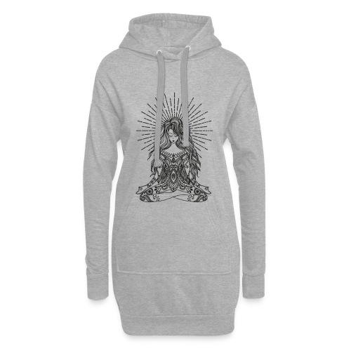 Yogagirl Boho Style Hippie in tiefer Meditation - Hoodie-Kleid