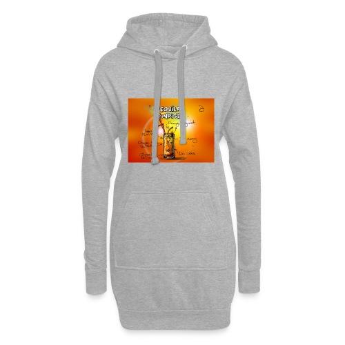 tequila sunrise - Hoodie-Kleid