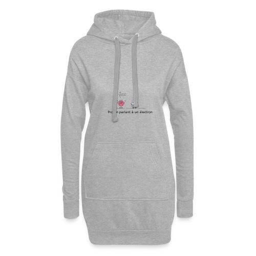 electron - Sweat-shirt à capuche long Femme