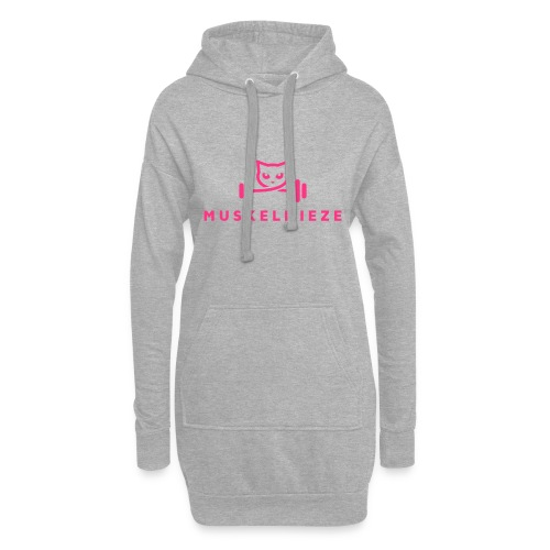 Muskelmieze Pink - Hoodie-Kleid