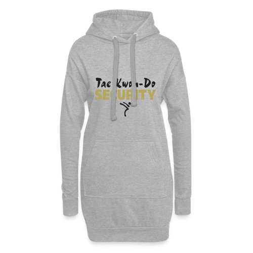 Taekwondo Security black & gold print - Hoodie Dress