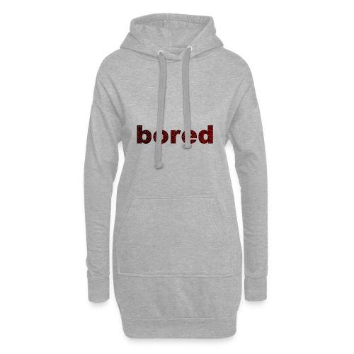 Bored Design rote Punkte auf Schwarz - Hoodie-Kleid