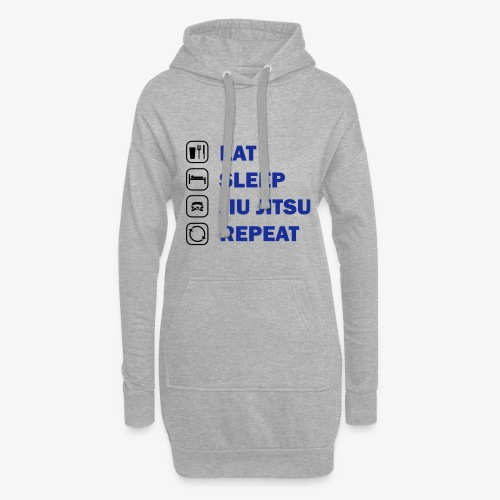 Eat, Sleep, Jiu Jitsu, Repeat - Hoodie Dress